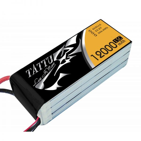 Tattu 12000mAh 22.2V 25C 6S1P Lipo Battery Pack