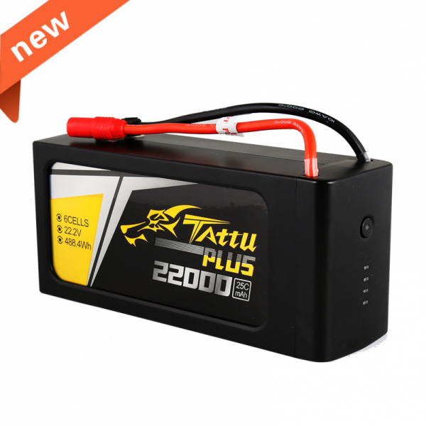 Tattu Plus 22000mAh 22.2V 25C 6S1P Lipo Battery Pack